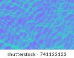 sea surface  bright summer... | Shutterstock . vector #741133123
