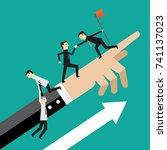 teamwork and help | Shutterstock .eps vector #741137023