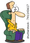 cartoon man sitting in a sofa...   Shutterstock .eps vector #741143617