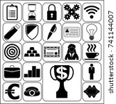 set of 22 business symbols of... | Shutterstock .eps vector #741144007