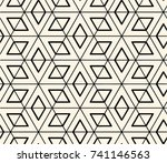 seamless abstract star... | Shutterstock .eps vector #741146563