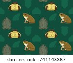 cane toad seamless wallpaper | Shutterstock .eps vector #741148387