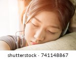 close up young asian woman... | Shutterstock . vector #741148867