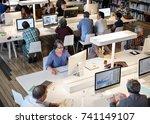 diverse education shoot | Shutterstock . vector #741149107