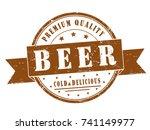 "vector circle stamp ""premium... | Shutterstock .eps vector #741149977"