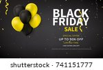web banner design for black... | Shutterstock .eps vector #741151777