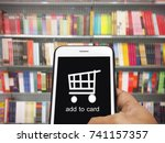 online shopping  e commerce and ... | Shutterstock . vector #741157357