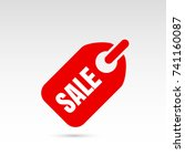 sale sticker icon. tag with... | Shutterstock .eps vector #741160087