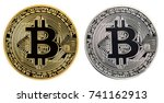 bitcoin symbol  buy and sell a ... | Shutterstock . vector #741162913