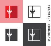 gift box | Shutterstock .eps vector #741167863