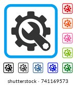 service tools icon. flat gray... | Shutterstock .eps vector #741169573