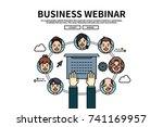 flat line vector editable... | Shutterstock .eps vector #741169957