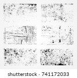 grunge overlay textures.vector... | Shutterstock .eps vector #741172033
