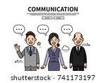 flat line vector editable... | Shutterstock .eps vector #741173197
