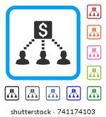 money recipients icon. flat...