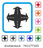 intersection directions icon.... | Shutterstock .eps vector #741177103