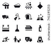 16 vector icon set   factory... | Shutterstock .eps vector #741195253