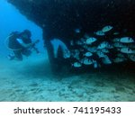 scuba diving in malta | Shutterstock . vector #741195433