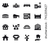 16 vector icon set   group ... | Shutterstock .eps vector #741205627