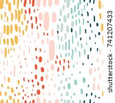 confetti seamless pattern.... | Shutterstock .eps vector #741207433