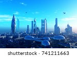 a fantastic city from the... | Shutterstock . vector #741211663