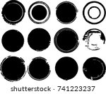 grunge post stamps collection ... | Shutterstock .eps vector #741223237