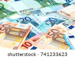 A Small Pile Of Paper Euro...