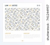 law and justice concept with... | Shutterstock .eps vector #741244957