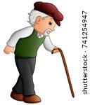 vector illustration of old man...   Shutterstock .eps vector #741254947