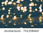 shiny christmas ornament with... | Shutterstock . vector #741258463