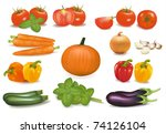 the big colorful collection of... | Shutterstock . vector #74126104