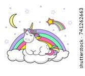 Magic Cute Unicorn Stars And...