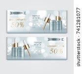 gift voucher hydrating facial... | Shutterstock .eps vector #741281077