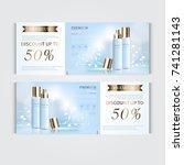 gift voucher hydrating facial... | Shutterstock .eps vector #741281143