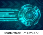 abstract technological... | Shutterstock .eps vector #741298477