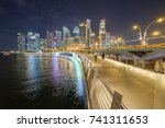 singapore financial district ... | Shutterstock . vector #741311653