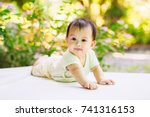 a soft focus picture of new... | Shutterstock . vector #741316153