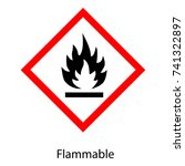vector illustration ghs hazard... | Shutterstock .eps vector #741322897