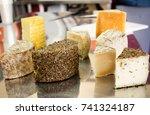 artisan cheese | Shutterstock . vector #741324187
