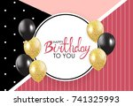 abstract happy birthday... | Shutterstock .eps vector #741325993