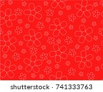seamless pattern with flower...   Shutterstock .eps vector #741333763