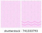 alternate zigzag lines of pink...   Shutterstock .eps vector #741333793