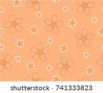 flower and mini size flower on...   Shutterstock .eps vector #741333823