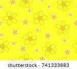 flower and mini size flower on...   Shutterstock .eps vector #741333883