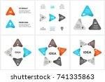 vector circle arrows... | Shutterstock .eps vector #741335863
