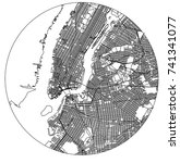 vector map of the new york city ... | Shutterstock .eps vector #741341077