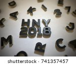 3d letters or alphabet. new... | Shutterstock . vector #741357457