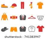 orange red color series men... | Shutterstock .eps vector #741383947