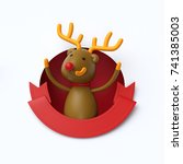 3d Render  Cute Christmas...