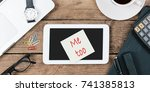 anti harassment hash tag me too ...   Shutterstock . vector #741385813